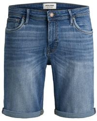 Jack & Jones Superstretch Jeansshorts - Blau