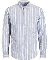 Jack & Jones Linnen Overhemd - Blauw