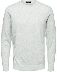 SELECTED Biologisch Katoenen Sweater - Wit