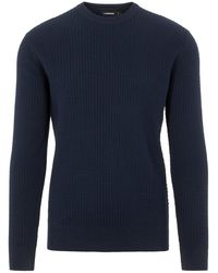 J.Lindeberg Andy Cotton Sweater - Blauw