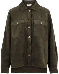 Pieces Corduroy Overhemd - Groen