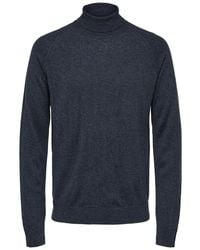 SELECTED - Roll-neck Sweater - Lyst