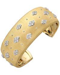 """Buccellati 18k Yellow Gold & Diamond """"macri"""" Ab Cuff Bracelet - Metallic"""