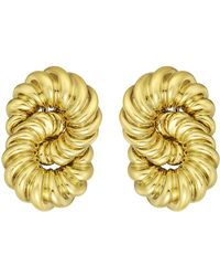 Tiffany & Co. - 18k Yellow Gold Intertwined Circle Earclips - Lyst