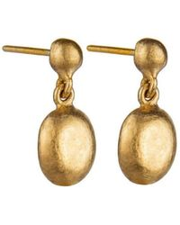 "Yossi Harari - Mini 24k Yellow Gold ""roxanne"" Drop Earrings - Lyst"