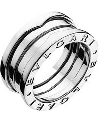 """BVLGARI 18k White Gold """"b.zero1"""" 3-band Ring"""