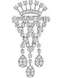 Tiffany & Co | Platinum & Diamond Drop Brooch | Lyst