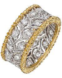 Buccellati - Ramage Eternelle 18-karat White And Yellow Gold Diamond Ring - Lyst