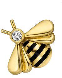 "Cartier 18k Yellow Gold & Diamond ""bee"" Lapel Pin"