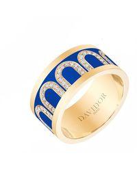 """Davidor 18k Yellow Gold, Diamond & Riviera Lacquer """"l'arc"""" Band - Multicolor"""