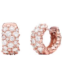 "Paul Morelli - Large 18k Pink Gold & Diamond ""confetti"" Snap Hoops - Lyst"
