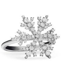Paul Morelli 18k White Gold & Diamond Snowflake Ring - Metallic