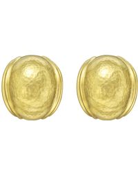 "Elizabeth Locke - 19k Yellow Gold ""puff"" Earrings - Lyst"
