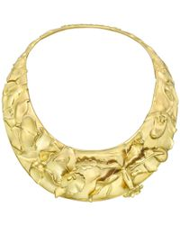 Tiffany & Co. Angela Cummings 18k Yellow Gold Orchid Necklace