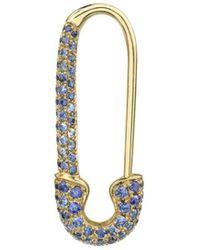 Anita Ko 18k Yellow Gold & Sapphire Safety Pin Earring