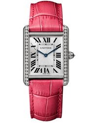 Cartier Tank Louis Large White Gold - Red