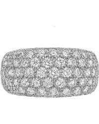 Cartier - Diamond Domed Eternity Band Ring - Lyst
