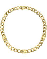 """Seaman Schepps - 18k Yellow Gold """"pyramid"""" Chain Necklace - Lyst"""