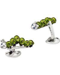 Deakin & Francis - Silver Caterpillar Cufflinks - Lyst