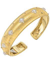 """Buccellati 18k Yellow Gold & Diamond """"macri"""" Cuff Bracelet - Metallic"""