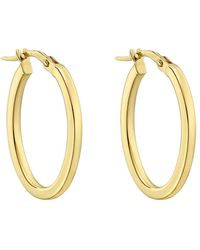 Roberto Coin - Medium 18k Yellow Gold Oval Hoop Earrings - Lyst