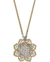 "Buccellati 18k Gold & Diamond ""rombi"" Pendant - Metallic"