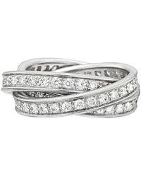"Cartier 18k White Gold & Diamond ""trinity"" Ring"