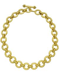 "Elizabeth Locke 19k Yellow Gold ""ravenna"" Link Necklace - Metallic"