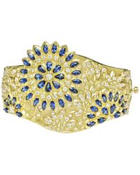 "Paul Morelli - Sapphire & Diamond ""appliqué Bombay"" Cuff Bracelet - Lyst"