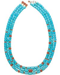 Paul Morelli - Ruby & Turquoise Barrelet Necklace - Lyst