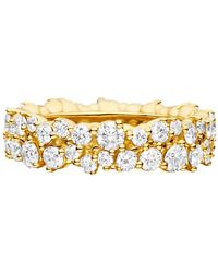 "Paul Morelli 18k Yellow Gold & Diamond ""confetti"" Band Ring - Metallic"