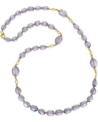 Goshwara - 18k Yellow Gold & Amethyst Bead Long Necklace - Lyst