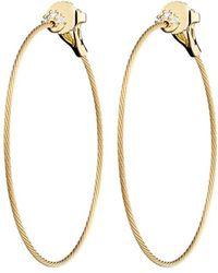 """Paul Morelli - Medium 18k Yellow Gold & Diamond """"unity"""" Hoop Earrings - Lyst"""