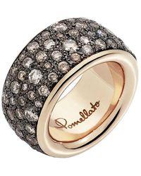 """Pomellato - Maxi 18k Rose Gold & Brown Diamond """"iconica"""" Band - Lyst"""