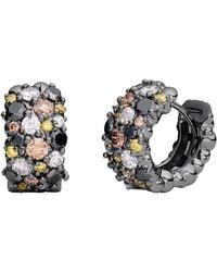 "Paul Morelli - Large Multicolored Diamond ""confetti"" Snap Hoop Earrings - Lyst"