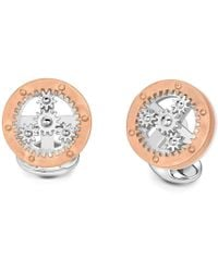 Deakin & Francis - Silver Wheel With Rotating Cogs Cufflinks - Lyst