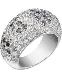 Cartier Pavé Black & White Diamond Dome Ring