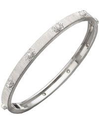 """Buccellati 18k White Gold & Diamond """"macri"""" Bangle - Multicolor"""