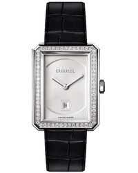 Chanel - Boy.friend Medium White Gold & Diamonds - Lyst