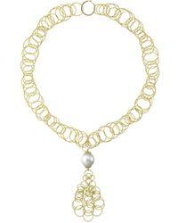 """Buccellati 18k Yellow Gold & Pearl """"hawaii"""" Drop Necklace - Metallic"""