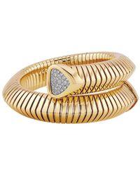 """Marina B 18k Yellow Gold & Diamond """"trisola"""" Cuff"""