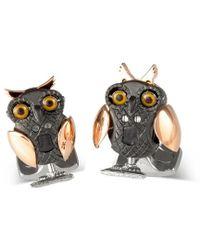 Deakin & Francis - Silver Moving Owl Cufflinks - Lyst