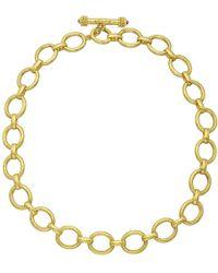 Elizabeth Locke 19k Yellow Gold Oval Link Necklace - Metallic