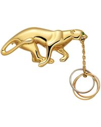 Cartier - 18k Gold Panthère Brooch With Trinity Ring - Lyst