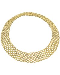 """Buccellati - 18k Yellow Gold """"crepe De Chine"""" Necklace - Lyst"""