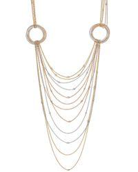 "Cartier 18k Tricolored Gold & Diamond ""trinity"" Necklace - Metallic"
