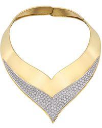 Cartier 1960s 18k Yellow Gold & Diamond Collar Necklace - Metallic