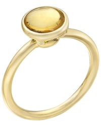 Goshwara - Stackable Circular-cut Citrine Ring - Lyst