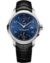 Baume & Mercier | Clifton Gmt Power Reserve Steel | Lyst