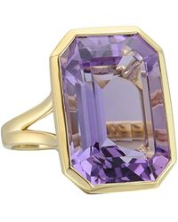 Goshwara - Large Emerald-cut Amethyst Cocktail Ring - Lyst